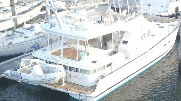 Lagoon 44 Power Catamaran Starboard Aft Quarter