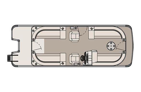 2017 Tahoe Pontoon LT Quad Lounger - 24'