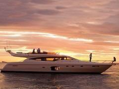 Ferretti 592 At sea