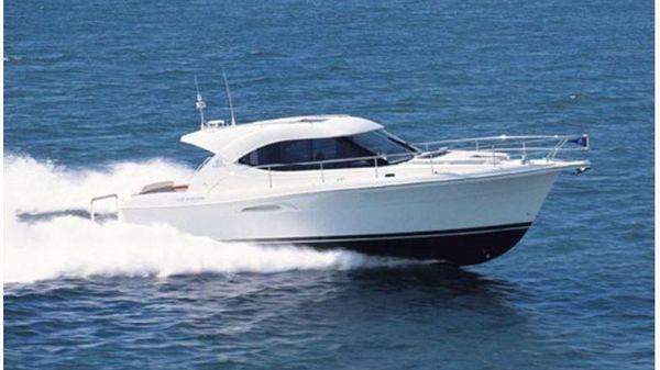 Riviera 3600 Sport Yacht Aerial Running Shot - Sister Ship