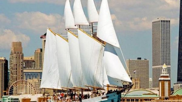 Schooner 4 Masted Gaff Rigged