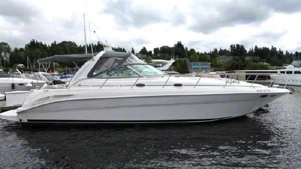 Sea Ray 410 Sundancer Cruiser Sea Ray 410 Sundancer - Dockside Profile