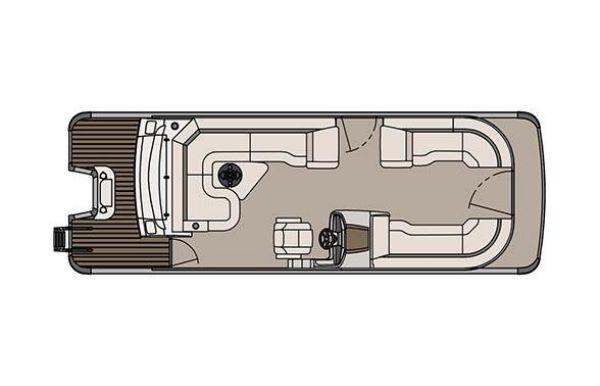 2017 Tahoe Pontoon Cascade Platinum Rear J Lounger - 25'