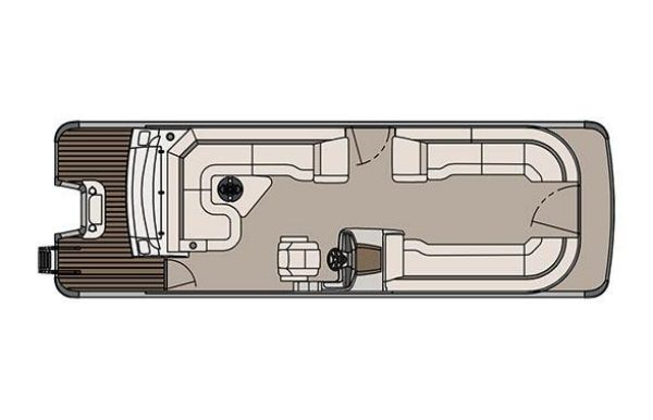 2017 Tahoe Pontoon Cascade Platinum Rear J Lounger - 27'
