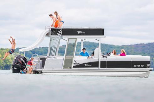 2017 Tahoe Pontoon Cascade Platinum Funship Cruise - 25'