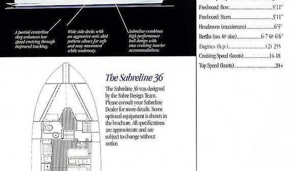 Sabreline Aft Cabin
