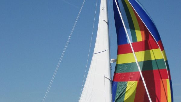 Jeanneau Sun Odyssey Shoal Draft Sailing Under Spinaker