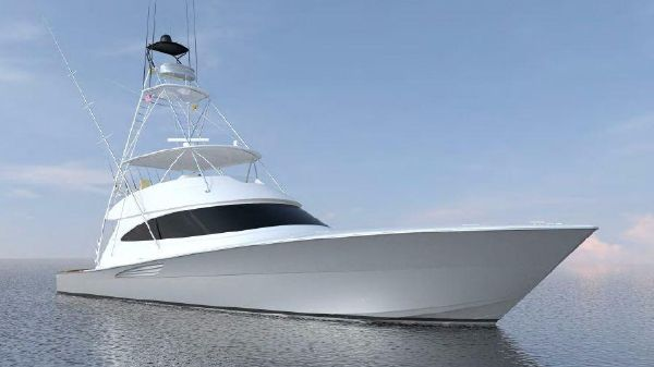 Viking 72 Convertible Starboard Bow