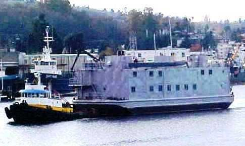 US Navy BARGE