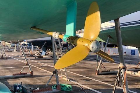 Laurent Giles 43' light displacement cruiser. Custom and Epoxy image