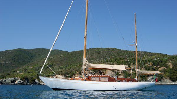 Sangermani Yawl 56' Sangermani Yawl 56' - At Anchor