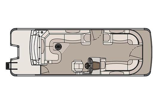 2017 Avalon Catalina Rear J Lounger - 25'