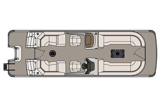 2017 Avalon Ambassador Quad Lounge Windshield - 27'