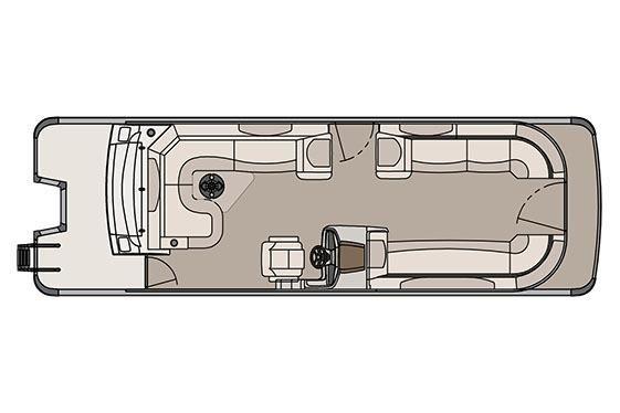 2017 Avalon Catalina Rear J Lounger - 27'