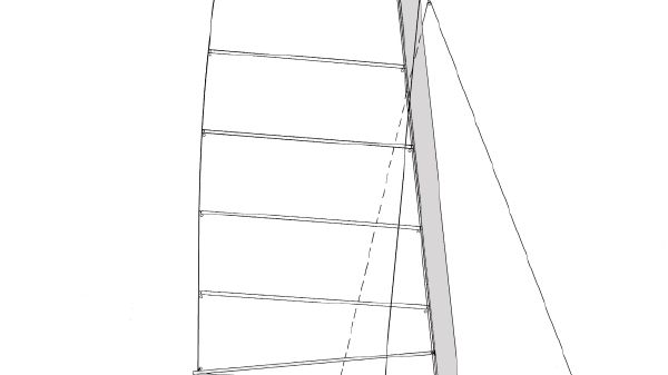 PARKER MARINE Sharpie Cat 42 Sail Plan