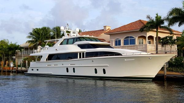 Cheoy Lee Motor Yacht LADY PEGASUS at dock