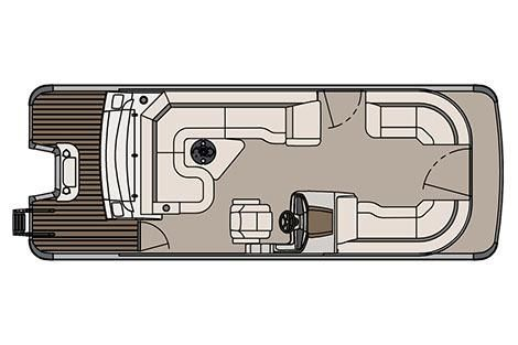 2017 Avalon Catalina Platinum Rear J Lounger - 23'