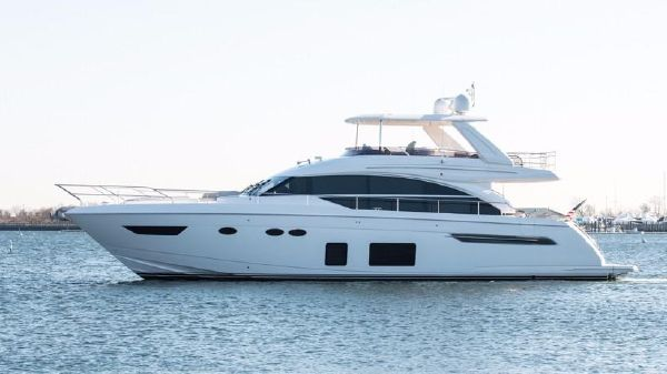 Princess 68 Flybridge Motor Yacht Port Side