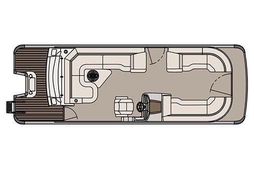 2017 Avalon Catalina Platinum Rear J Lounger - 25'