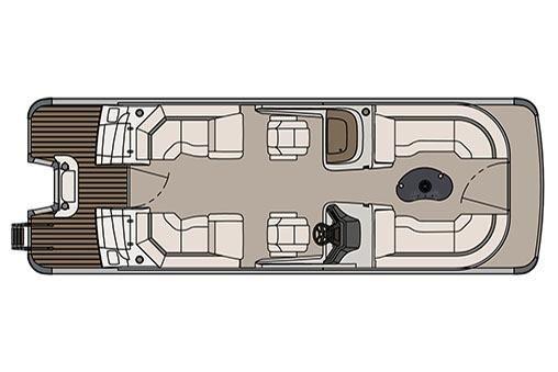 2017 Avalon Catalina Platinum Quad Lounge Windshield - 25'