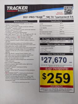 Tracker Pro Team 190 TX Tournament Edition image