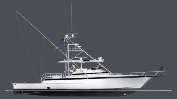 Euro Marine LTD Raised Helm Deck Express Fisherman Euro Marine 65' Express SF