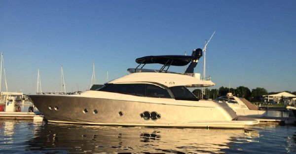 Monte Carlo Yachts 65 In Stock image