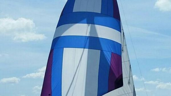 Catalina 355 Asymmetric Gennaker on Bow Sprit