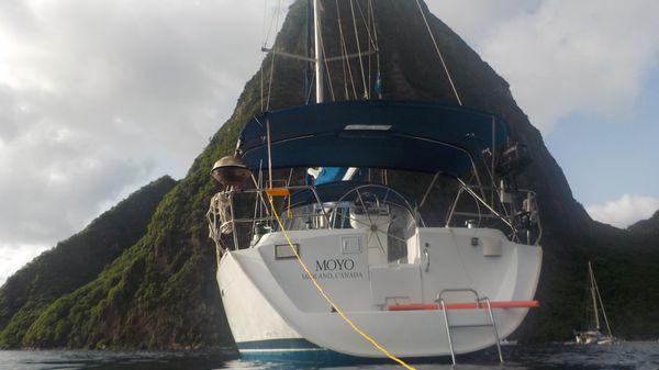 Beneteau Oceanis Clipper 393 Moored in St. Lucia