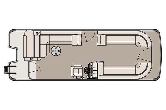 2017 Avalon LSZ Cruise Rear Bench - 26'