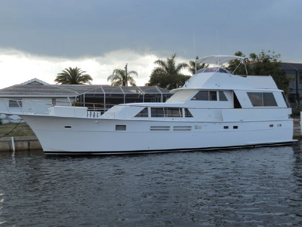1975 hatteras 58 motor yacht dania beach florida pier for Motor yachts for sale in florida