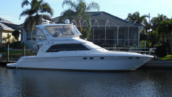 Sea Ray 480 Sedan Bridge Starboard Side at Home