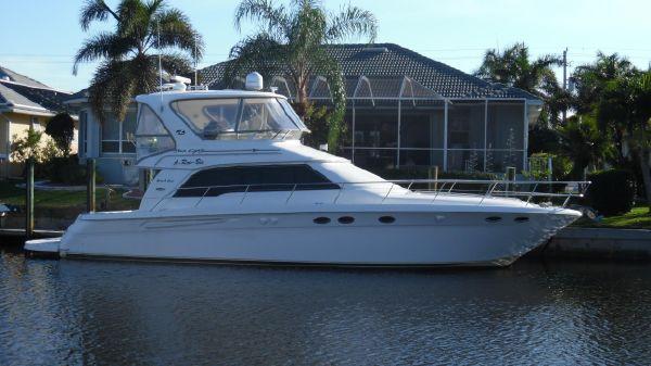 Sea Ray 480 Sedan Bridge Starboard Side at Home