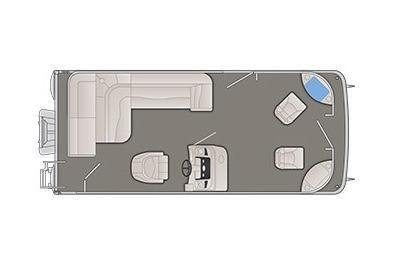 2020 Bennington S 208 SF 8' Narrow Beam