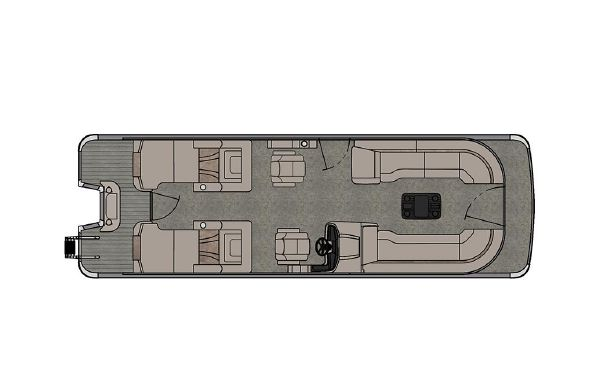 2021 Tahoe Pontoon Cascade Platinum Rear Lounger 27'
