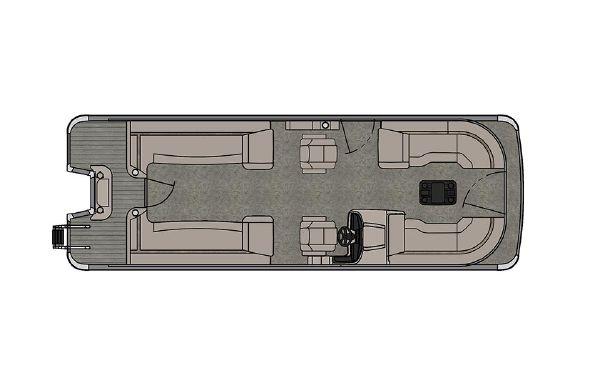 2021 Tahoe Pontoon Cascade Platinum Quad Lounger 25'