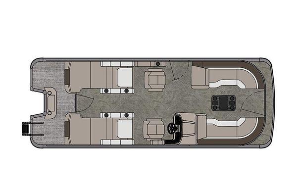 2021 Tahoe Pontoon Cascade Rear Lounger 23'