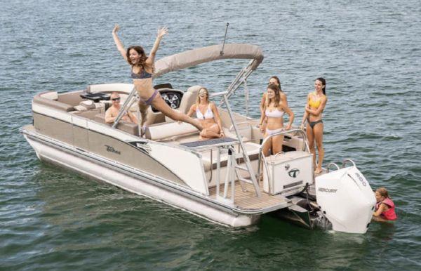 2021 Tahoe Pontoon Cascade Versatile Rear Bench 25'