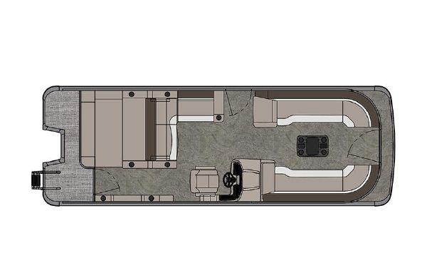 2021 Tahoe Pontoon Cascade Versatile Rear Lounger 25'