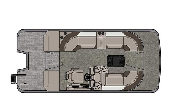 2021 Tahoe Pontoon LTZ Cruise II 20'