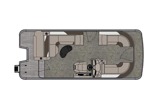 2021 Tahoe Pontoon LTZ Cruise Rear Bench 22'