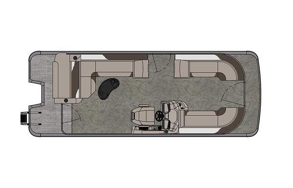 2021 Tahoe Pontoon LTZ Cruise Rear Bench 24'