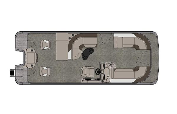 2021 Tahoe Pontoon LTZ Rear Fish 24'