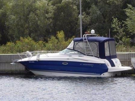 Monterey 250 CR & Trailer.. Monterery 250 CR - On her berth
