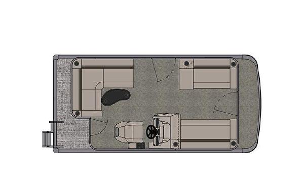 2021 Tahoe Pontoon Sport Cruise 16'
