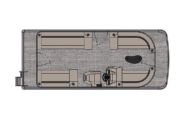 2021 Tahoe Pontoon Sport Quad Lounger 20'