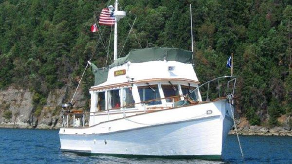 Grand Banks Flybridge Sedan Trawler