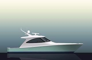 Viking Yacht 48 Sport Coupe Starboard Side