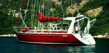 Brooklin Boat Yard Roger Marshall, 47', Cruising Cutter Anchored in Newfoundland