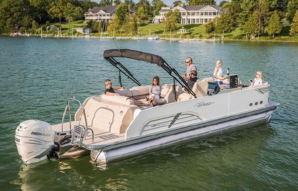 2019 Tahoe Pontoon Vision Rear J Lounge - 25'